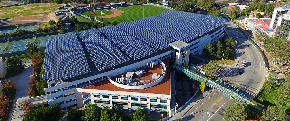 Mesa Parking Building with Rooftop Solar Panels