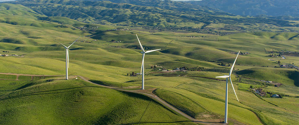 Golden Hills Solar Power Wind Turbines