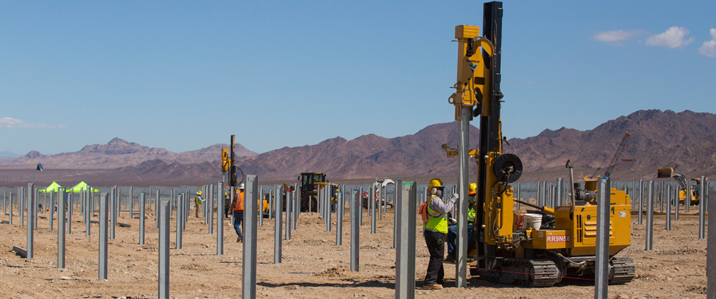 California – Desert Sunlight Solar Energy Center construction