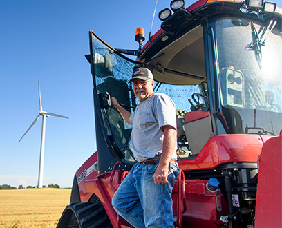 Landowner - Gackle Farmer with red truck