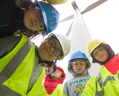 Kid Tour at Ninnescah Wind Farm