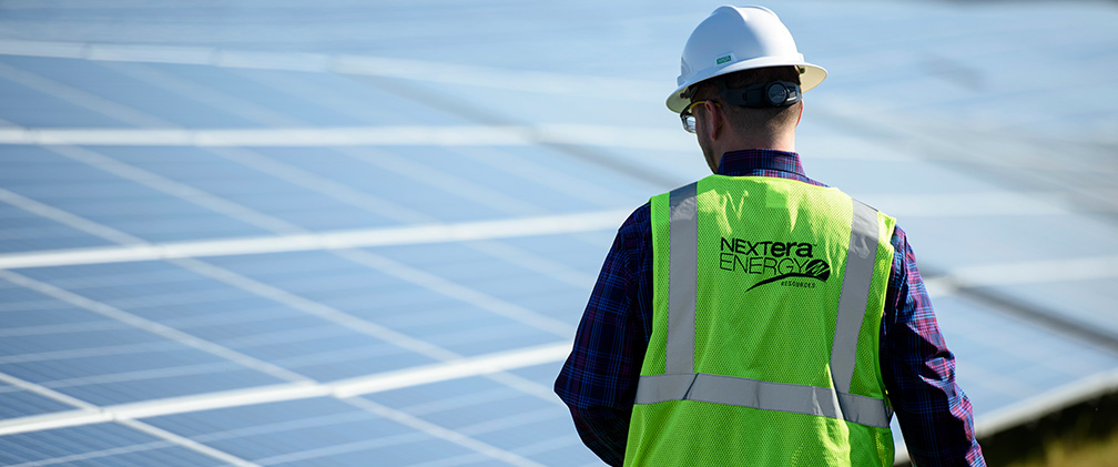 NextEra Energy Resources employee at White Pine Solar Energy Center